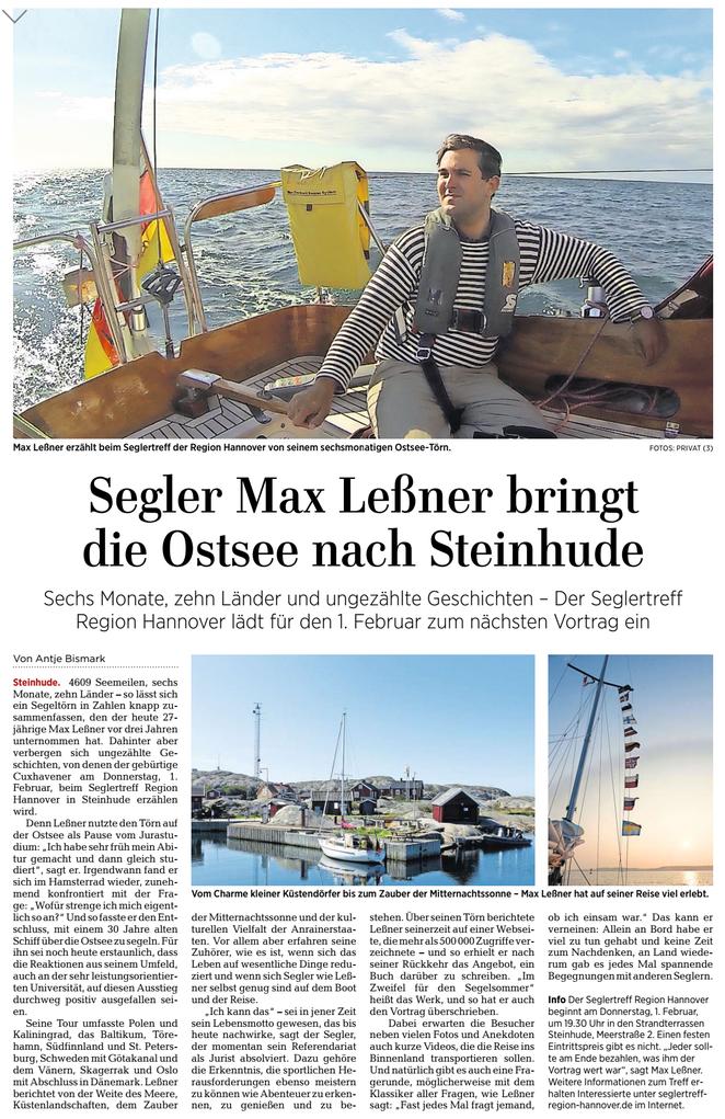 Hannoversche Allgemeine Zeitung, Lokalteil Burgdorf, Lehrte ..., 30.12 2017