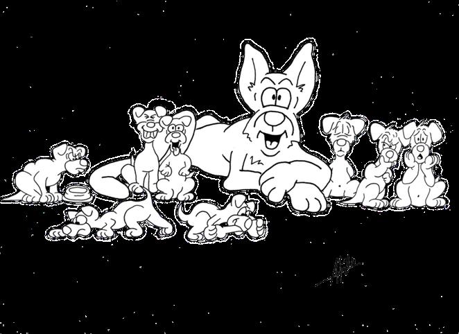 Gruppenbild A-Wurf mit Mama