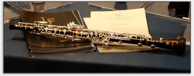 Exklusiv auf der Messe präsentiert: Das neue Mönnig Solistenmodell 155 AM (Albrecht Mayer)