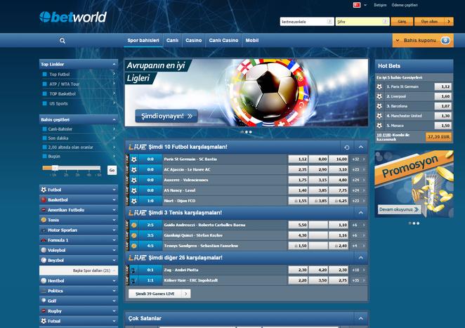 Betworld Bahis Ekran Görüntüsü