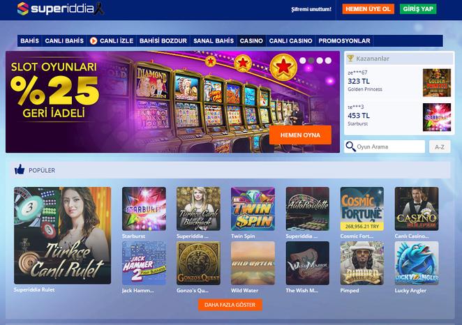 Süperiddia Casino Görüntüsü