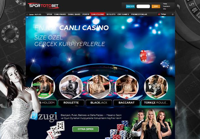 Sportotobet Canlı Casino Ekran Görüntüsü
