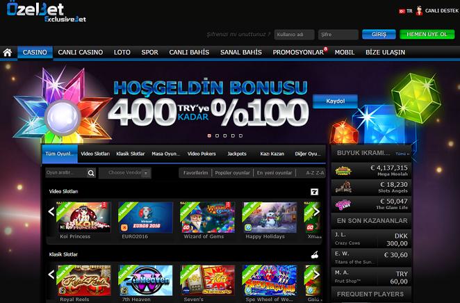 Özelbet Casino Ekran Görüntüsü
