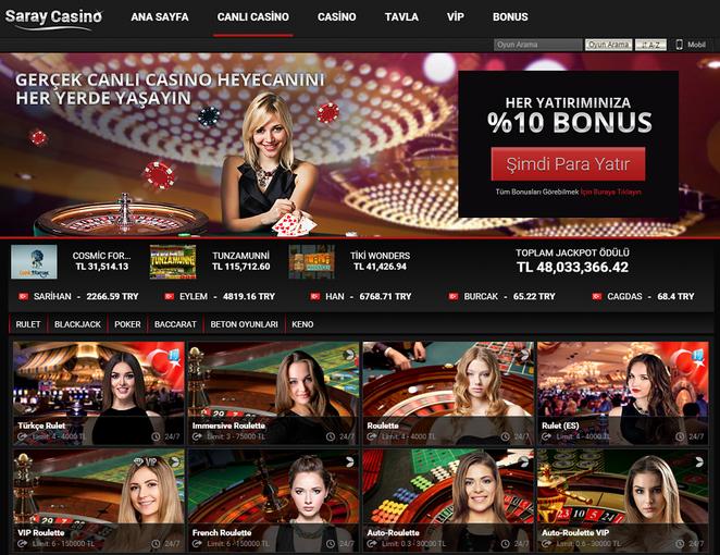 Saray Casino Canlı Casino