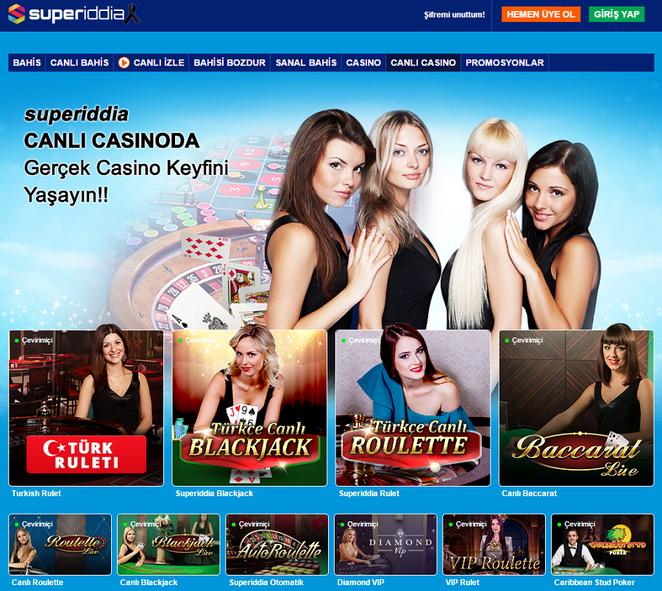 Süperiddia Canlı Casino
