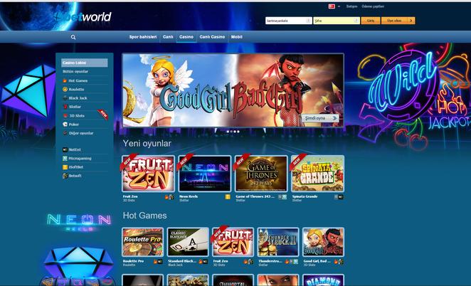 Betworld Casino Ekran Görüntüsü
