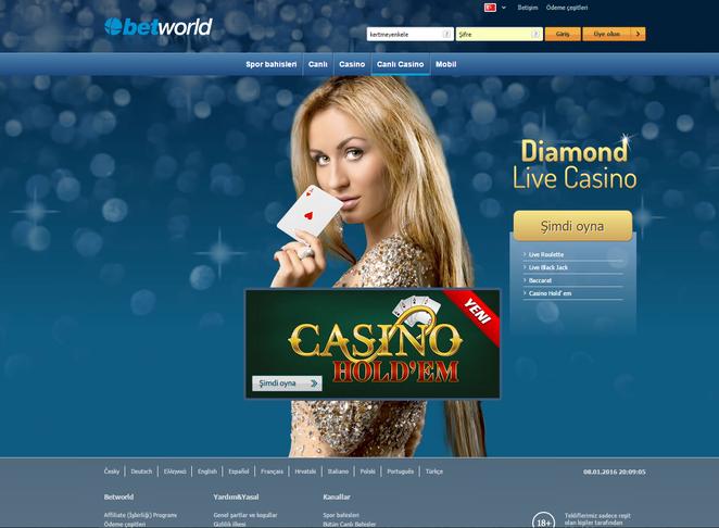 Betworld Canlı Casino Ekran Görüntüsü