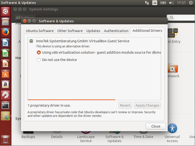 Ubuntu 14.04 LTS Additional Drivers