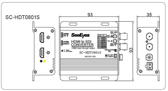 HDMI→HD-SDIコンバーター製品図面