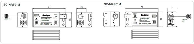 AHDノイズ除去装置 SC-NRC01M - 寸法図