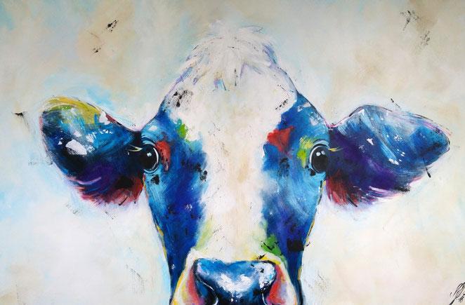 """cow it like a star"", 2016, acrylic on canvas, 80x120"