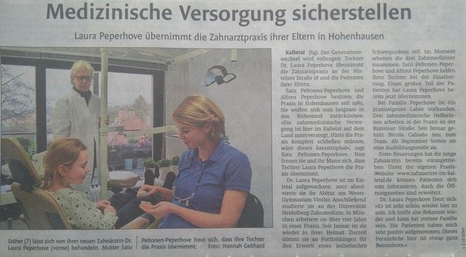 Zeitungsartikel Westfalen Blatt