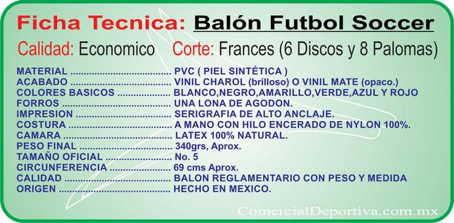3e5a09467b54b FICHAS TECNICAS PRODUCTOS DEPORTIVOS - Comercial Deportiva - Balones ...