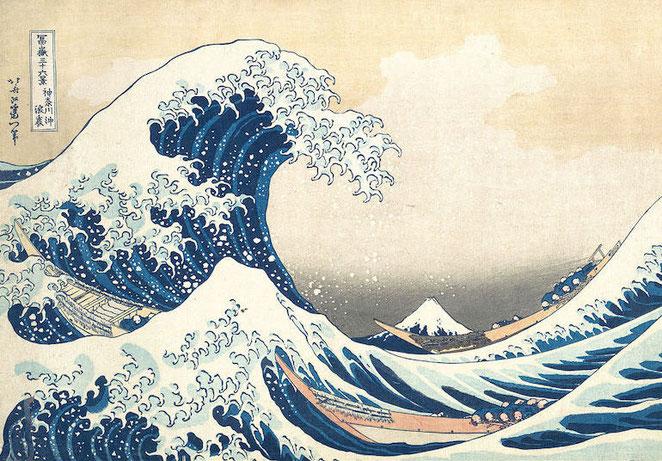 La GRANDE VAGUE de KANAGAWA HOKUSAI Cycle 2 ou 3