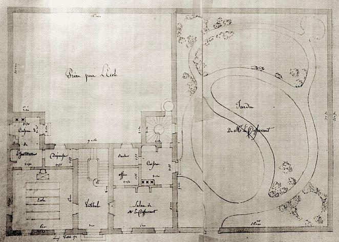 plan du projet 1837 (Archives municipales Le Thor)