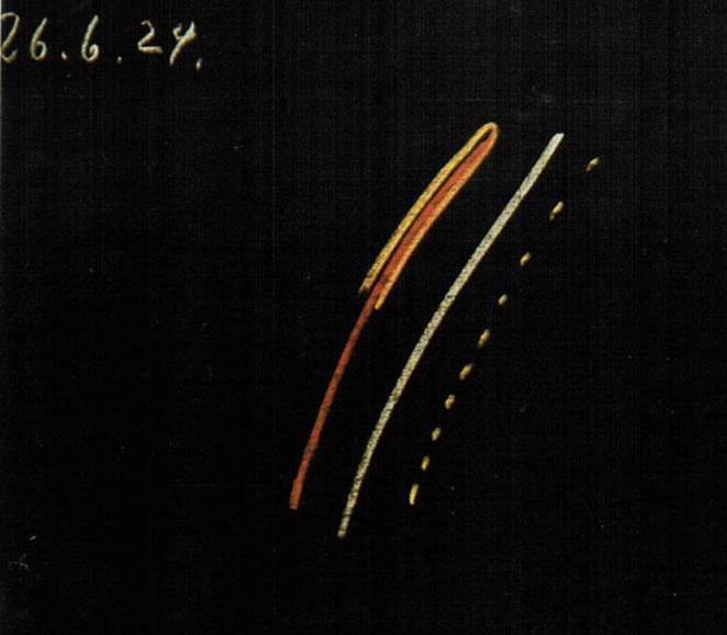 Abb 1: Tafelzeichnung Rudolf Steiners vom 26.6.24