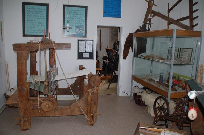 Webstuhl aus dem 19. Jahrhundert