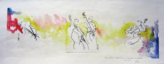 aquarelle musique :  orchestre à cordes Épinal. L'orchestre à cordes de Marie Triplet, école nationale de musique d'Epinal