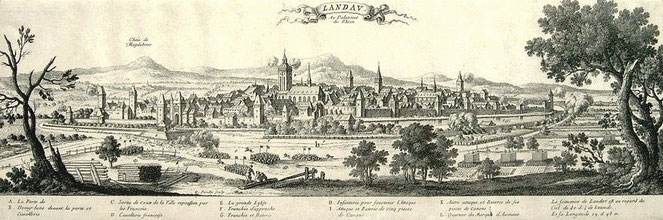Landau:  französischer Kupferstich von G. Perelle aus dem 17. Jahrhundert        (Repro: Ochsenreither)