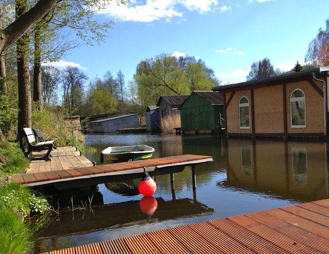 Angelboot mieten, Bootsverleih, Ruderboot, Drewensee, Alte Havel, Anka 4