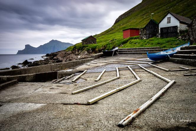 Färöer / Faroe Island, Elduvik, Hafen, Langzeitbelichtung, 2017, © Silly Photography