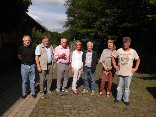 Dr.Behrens, Klaus Gevelhoff, Prof. Grymer, Heide Niang, Dr.Haug, Edith Mahlke, Rolf Bleck (von links nach rechts)