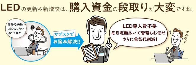 LEDサブスクのメリット