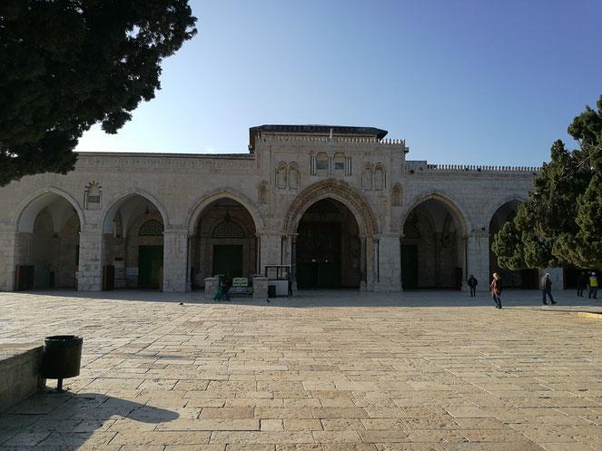 The Farthest Mosque (Al-Aqsa) seven central arches.