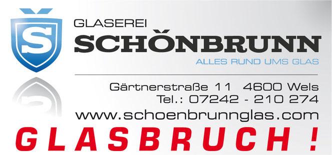Glasbruch Wels Glaserei Schönbrunn Hotline Glas Express Service