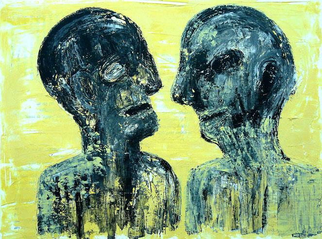 Moi et Toi 1: Acryl auf Leinwand, 60 x 80 cm, 2019