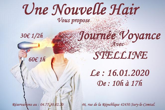 Journée voyance chez Une Nouvelle Hair avec Stelline Voyance le 16 janvier 2020
