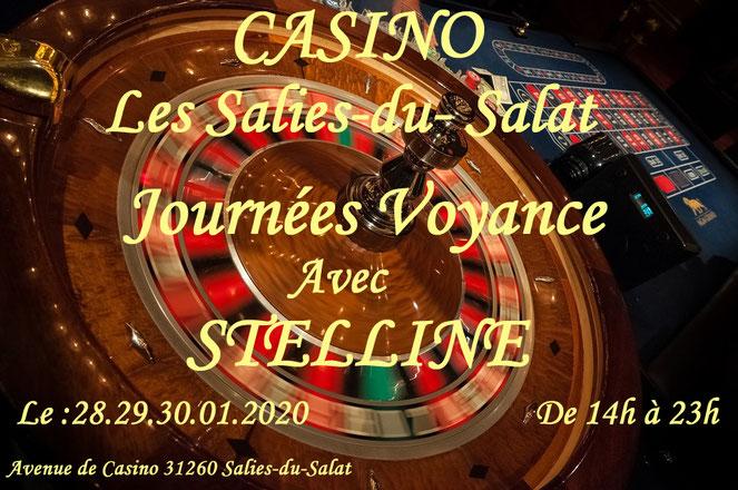 Journée voyance au casino Les salies du Salat avec Stelline le 28, 29, 30 janvier 2020