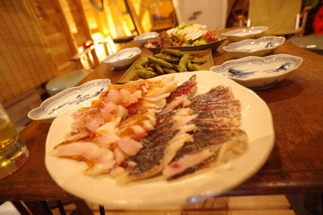 浮波拠屋 炙り 魚