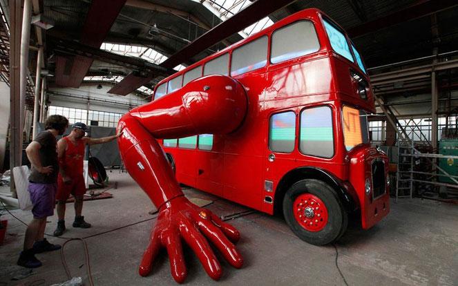 робот автобус