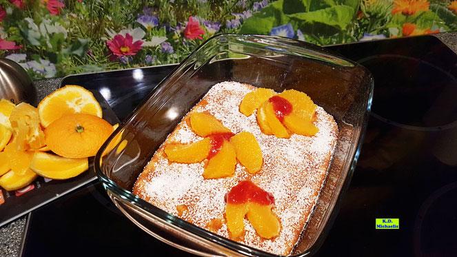 Rezeptvorschau: Selbstgemachter, fruchtiger Reisauflauf mit frischen Früchten nach einem Kochrezept aus Dinkel-Dreams 2 von K.D. Michaelis