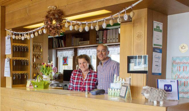 Ruth und Othmar Suter, Inhaber Hotel Bellevue