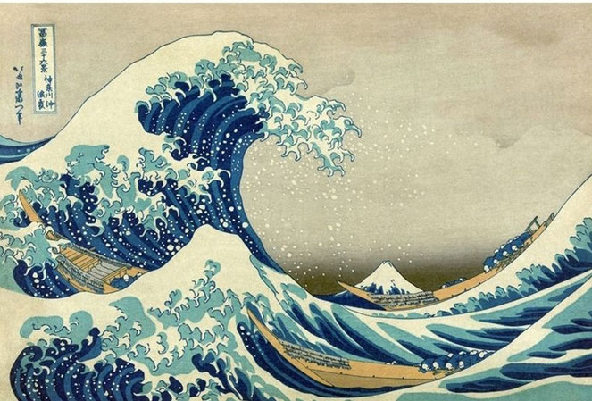 """K. Hokusai, """"La grande onda di Kanagawa"""" (1820-1831)"""