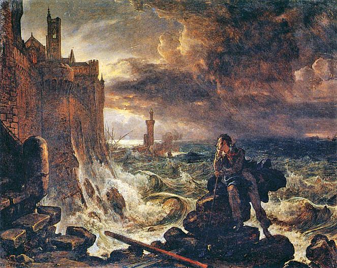 """F. Catel, """"Pezzo notte dalla scena finale di René di Chateaubriand"""" (1800)"""