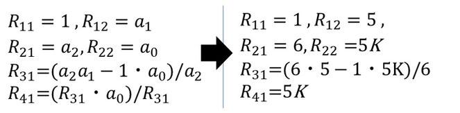 図13 ラウスの係数算出③完成