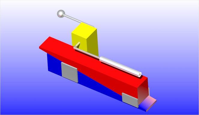 "Nussknacker aus Nussdor, Design Bertwin Pichler (inspiriert durch ""Red and Blue Chair"")"
