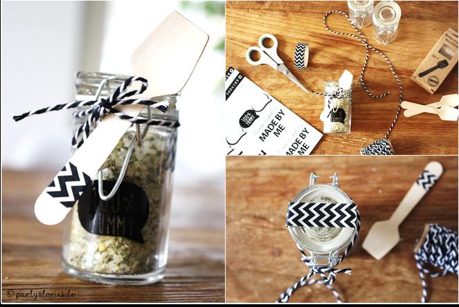 Bild: Salz im Glas, Geschenk aus der Küche, DIY Gewürzsalz
