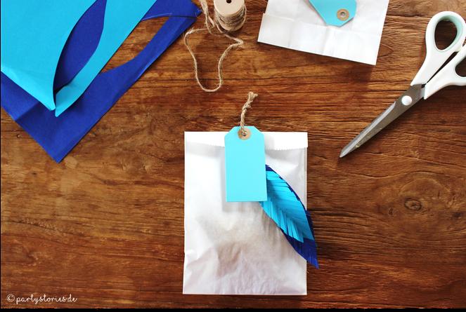 Bild: Geschenke schön verpacken mit Papiertüten, Partystories