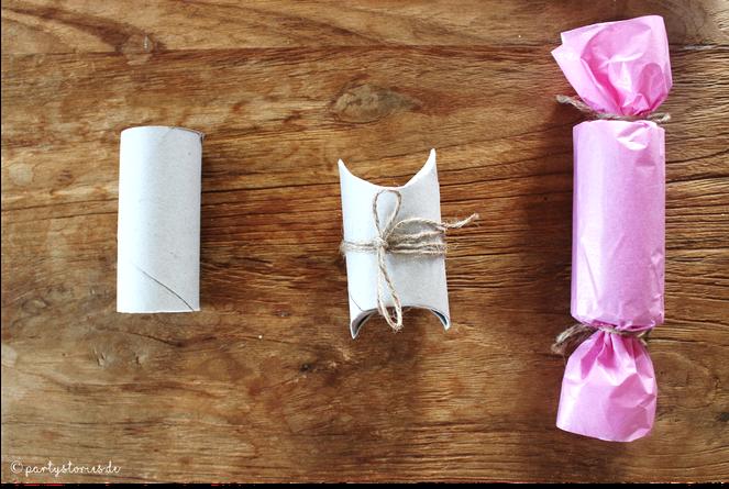 Bild: Geschenke schön verpacken mit Toilettenpapier, DIY Verpackungen, Verpackungsideen, Partystories