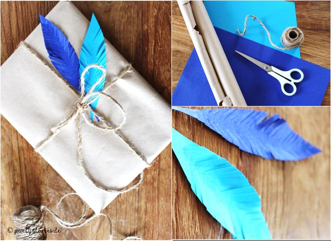 Bild: Verpacken mit Packpapier, Geschenkideen, Partystories
