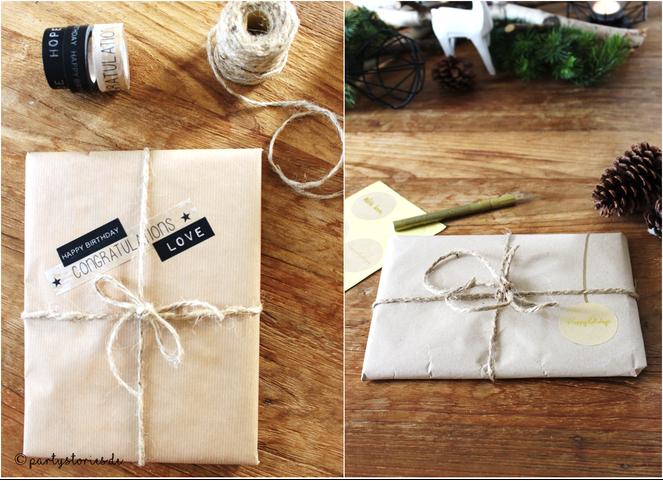 Bild: Verpacken mit Packpapier, Partystories