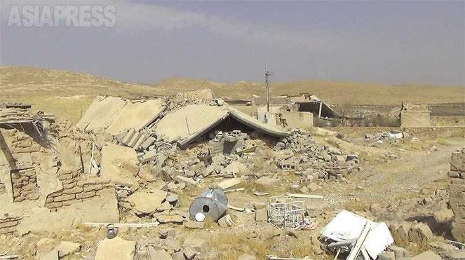 ISによって襲撃を受けたヤズディ教徒の居住地域(玉本英子さん提供)
