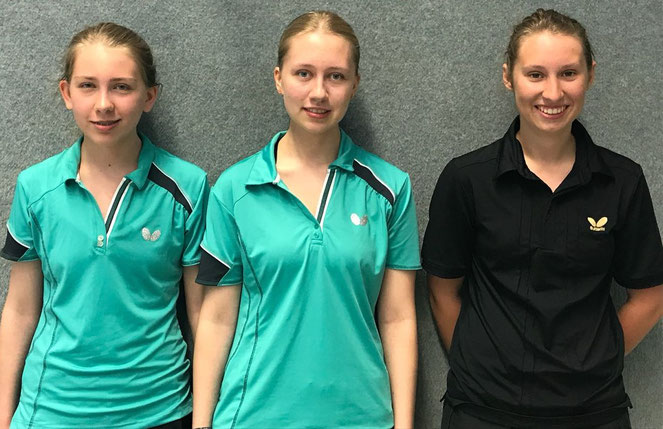 Schließen sich dem VfL Hüls an: (v.l.) Sandra Osuch, Selina Osuch und Hannah Frank.