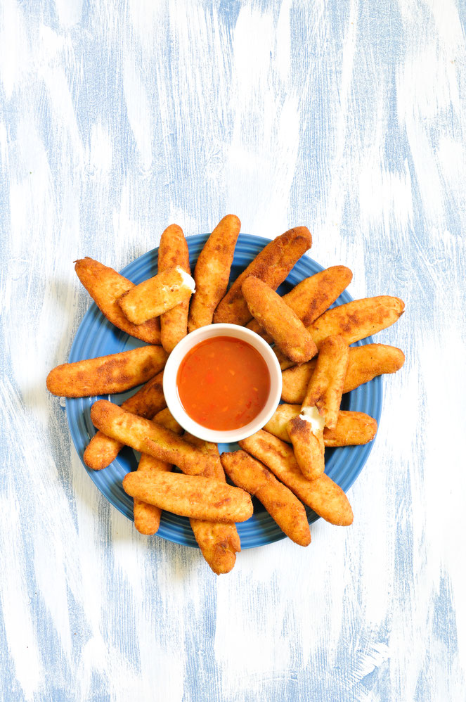 Falsche Mozzarellasticks vegan Thermomix