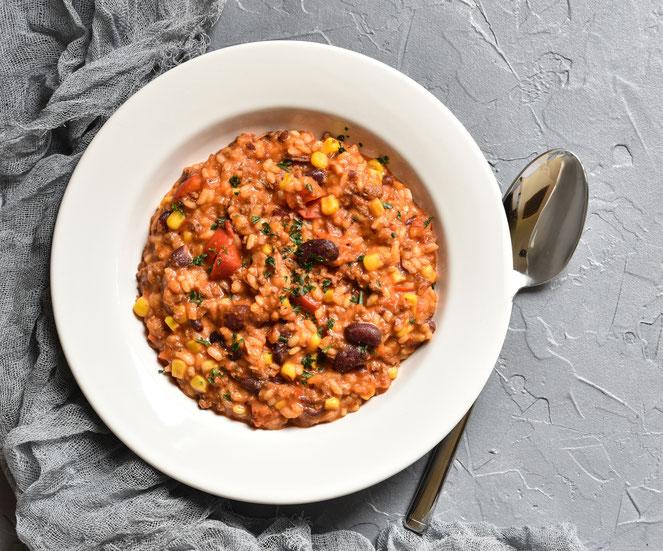 Klassiker neu interpretiert: Chili con Carne als Risotto, vegetarisch, vegan möglich, Thermomix