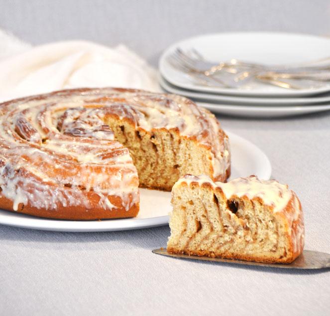 XXL Zimtschnecke als Kuchen für Viele, vegan möglich, z.B. aus dem Thermomix